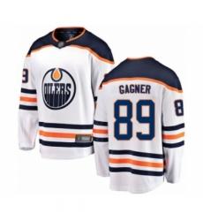 Men's Edmonton Oilers #89 Sam Gagner Authentic White Away Fanatics Branded Breakaway Hockey Jersey