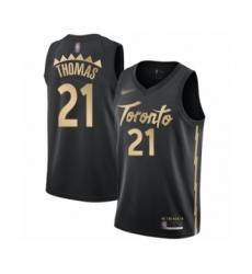Men's Toronto Raptors #21 Matt Thomas Swingman Black Basketball Jersey - 2019 20 City Edition