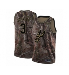 Men's San Antonio Spurs #3 Keldon Johnson Swingman Camo Realtree Collection Basketball Jersey