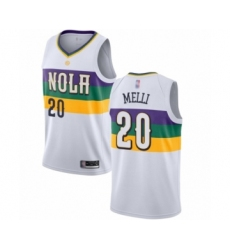 Men's New Orleans Pelicans #20 Nicolo Melli Authentic White Basketball Jersey - City Edition