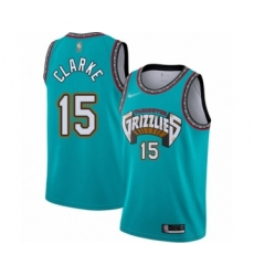 Men's Memphis Grizzlies #15 Brandon Clarke Authentic Green Hardwood Classic Basketball Jersey