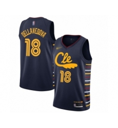 Men's Cleveland Cavaliers #18 Matthew Dellavedova Swingman Navy Basketball Jersey - 2019 20 City Edition