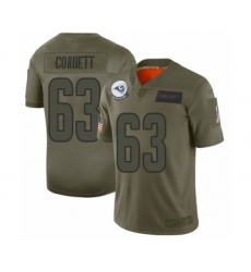 Men's Los Angeles Rams #63 Austin Corbett Limited Olive 2019 Salute to Service Football Jersey
