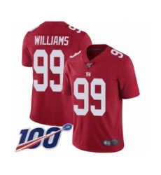 Men's New York Giants #99 Leonard Williams Red Limited Red Inverted Legend 100th Season Football Jersey