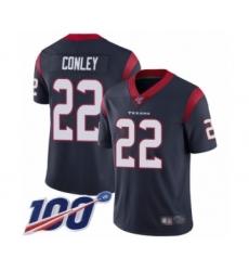 Men's Houston Texans #22 Gareon Conley Navy Blue Team Color Vapor Untouchable Limited Player 100th Season Football Jersey