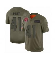 Men's Arizona Cardinals #41 Kenyan Drake Limited Olive 2019 Salute to Service Football Jersey