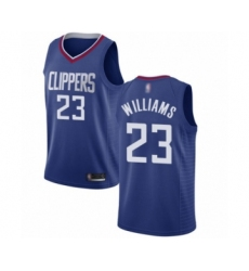 Men's Los Angeles Clippers #23 Lou Williams Swingman Blue Basketball Jersey - Icon Edition