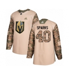 Men's Vegas Golden Knights #40 Garret Sparks Authentic Camo Veterans Day Practice Hockey Jersey