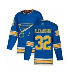 Youth St. Louis Blues #32 Nikita Alexandrov Authentic Navy Blue Alternate Hockey Jersey