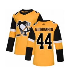 Men's Pittsburgh Penguins #44 Erik Gudbranson Authentic Gold Alternate Hockey Jersey