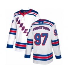 Men's New York Rangers #97 Matthew Robertson Authentic White Away Hockey Jersey