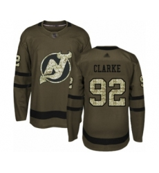 Men's New Jersey Devils #92 Graeme Clarke Authentic Green Salute to Service Hockey Jersey