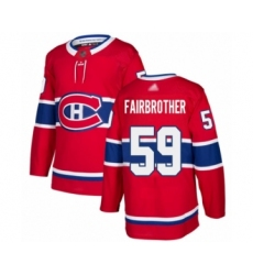 Men's Montreal Canadiens #59 Gianni Fairbrother Authentic Red Home Hockey Jersey