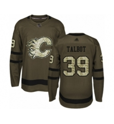 Youth Calgary Flames #39 Cam Talbot Authentic Green Salute to Service Hockey Jersey