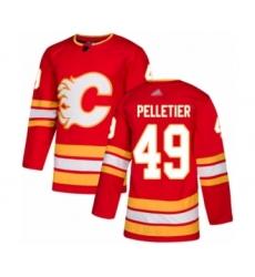Men's Calgary Flames #49 Jakob Pelletier Authentic Red Alternate Hockey Jersey