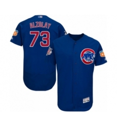 Men's Chicago Cubs #73 Adbert Alzolay Royal Blue Alternate Flex Base Authentic Collection Baseball Player Jersey