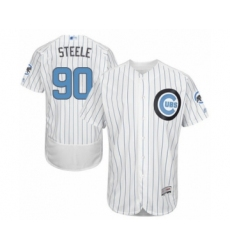 Men's Chicago Cubs #90 Justin Steele Authentic White 2016 Father's Day Fashion Flex Base Baseball Player Jersey