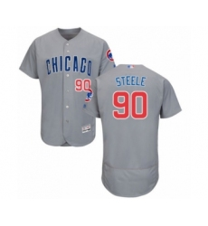 Men's Chicago Cubs #90 Justin Steele Grey Road Flex Base Authentic Collection Baseball Player Jersey