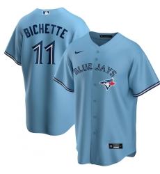 Men's Toronto Blue Jays #11 Bo Bichette Nike Powder Blue Alternate 2020 Replica Player Jersey