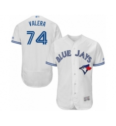 Men's Toronto Blue Jays #74 Breyvic Valera White Home Flex Base Authentic Collection Baseball Player Jersey