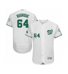 Men's Washington Nationals #64 James Bourque White Celtic Flexbase Authentic Collection Baseball Player Jersey