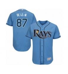 Men's Tampa Bay Rays #87 Jose De Leon Columbia Alternate Flex Base Authentic Collection Baseball Player Jersey