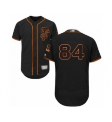 Men's San Francisco Giants #84 Melvin Adon Black Alternate Flex Base Authentic Collection Baseball Player Jersey