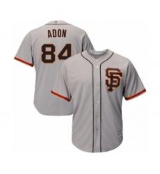 Men's San Francisco Giants #84 Melvin Adon Grey Alternate Flex Base Authentic Collection Baseball Player Jersey