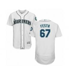 Men's Seattle Mariners #67 Matt Festa White Home Flex Base Authentic Collection Baseball Player Jersey