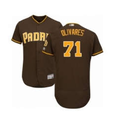 Men's San Diego Padres #71 Edward Olivares Brown Alternate Flex Base Authentic Collection Baseball Player Jersey