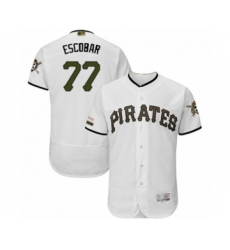 Men's Pittsburgh Pirates #77 Luis Escobar White Alternate Authentic Collection Flex Base Baseball Player Jersey
