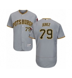 Men's Pittsburgh Pirates #79 Williams Jerez Grey Road Flex Base Authentic Collection Baseball Player Jersey