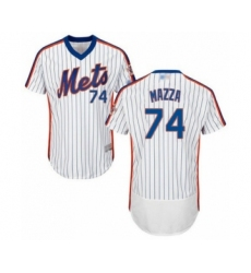 Men's New York Mets #74 Chris Mazza White Alternate Flex Base Authentic Collection Baseball Player Jersey
