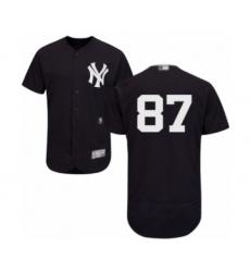 Men's New York Yankees #87 Albert Abreu Navy Blue Alternate Flex Base Authentic Collection Baseball Player Jersey