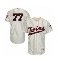 Men's Minnesota Twins #77 Fernando Romero Authentic Cream Alternate Flex Base Authentic Collection Baseball Player Jersey