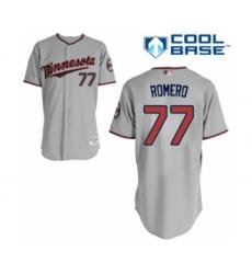 Men's Minnesota Twins #77 Fernando Romero Authentic Grey Road Cool Base Baseball Player Jersey