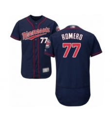 Men's Minnesota Twins #77 Fernando Romero Authentic Navy Blue Alternate Flex Base Authentic Collection Baseball Player Jersey