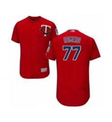 Men's Minnesota Twins #77 Fernando Romero Authentic Scarlet Alternate Flex Base Authentic Collection Baseball Player Jersey