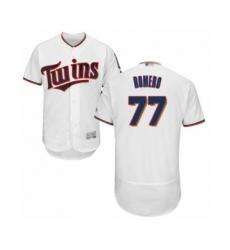 Men's Minnesota Twins #77 Fernando Romero White Home Flex Base Authentic Collection Baseball Player Jersey