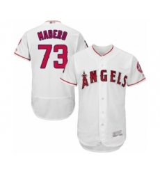 Men's Los Angeles Angels of Anaheim #73 Luis Madero White Home Flex Base Authentic Collection Baseball Player Jersey