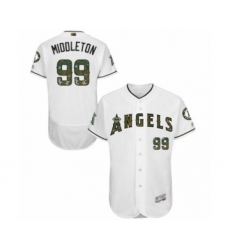 Men's Los Angeles Angels of Anaheim #99 Keynan Middleton Authentic White 2016 Memorial Day Fashion Flex Base Baseball Player Jersey