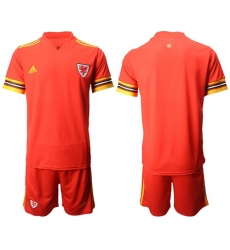 Wales Blank Red Home Soccer Country Jersey