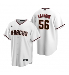 Men's Nike Arizona Diamondbacks #56 Kole Calhoun White Home Stitched Baseball Jersey