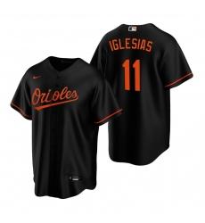 Men's Nike Baltimore Orioles #11 Jose Iglesias Black Alternate Stitched Baseball Jersey
