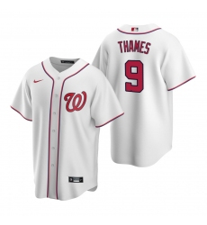 Men's Nike Washington Nationals #9 Eric Thames White Home Stitched Baseball Jersey