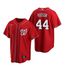 Men's Nike Washington Nationals #44 Daniel Hudson Red Alternate Stitched Baseball Jersey