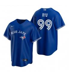 Men's Nike Toronto Blue Jays #99 Hyun-Jin Ryu Royal Alternate Stitched Baseball Jersey