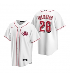Men's Nike Cincinnati Reds #26 Raisel Iglesias White Home Stitched Baseball Jersey