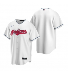 Men's Nike Cleveland Indians Blank White Home Baseball Jersey