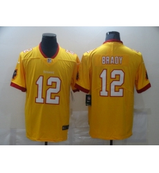 Men's Tampa Bay Buccaneers #12 Tom Brady yellow Limited Jersey